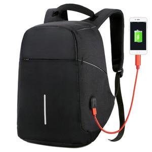Image 1 - Men Anti theft Backpack USB Charging 15.6 Laptop Backpack Multifunction Waterproof Travel Bagpack women High Quality School bag