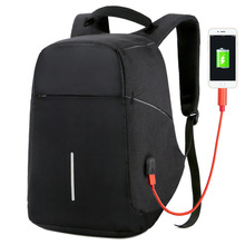 남자 안티 절도 배낭 usb 충전 15.6 노트북 배낭 다기능 방수 여행 bagpack 여자 고품질 학교 가방