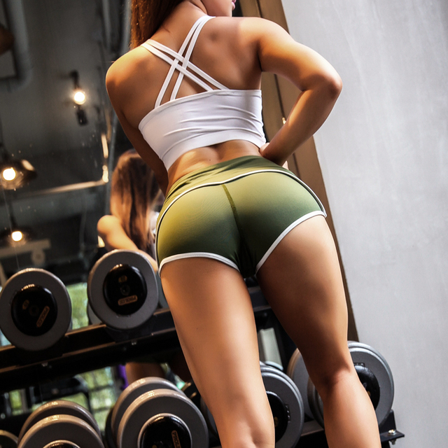 Hot sexy Sports Exercise Shorts Women Yoga Shorts Low Waisted Sexy Peach Hips Quick Dry Fitness Running Gym Shorts 6