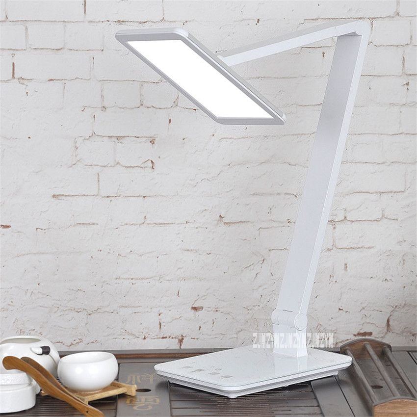 XG6001 LED Dimmable Desk Lamp 12W Eye-care Touch Sensitive Daylight Folding Desk Lamps Reading Lamps Bedroom Lamp With USB Port folding study led table lamp 4 level sensitive touch dimmer desk lamps portable office eye care reading 12w rechargeable new