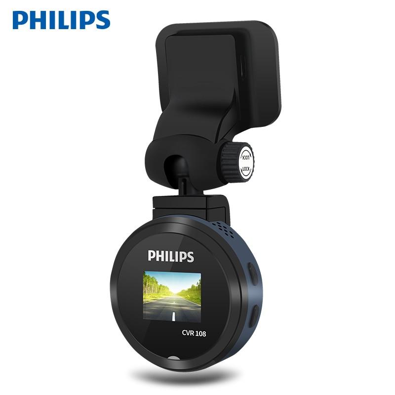Philips CVR108 Original Hidden Car DVR Camera 130 Degree Motion Detection Mini Video Recorder Cycling Recording Dash Cam