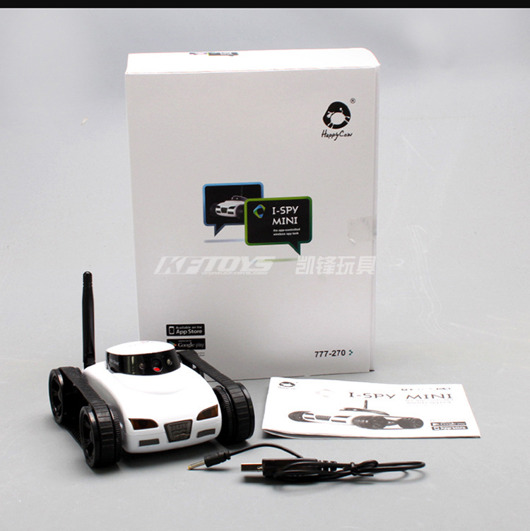 Mini i-Spy 4CH RC Tank Controlled By IPhone/iPad/Android/IOS Wifi Camera Remote Control Toys 777-270 Best Gift HOT SALE