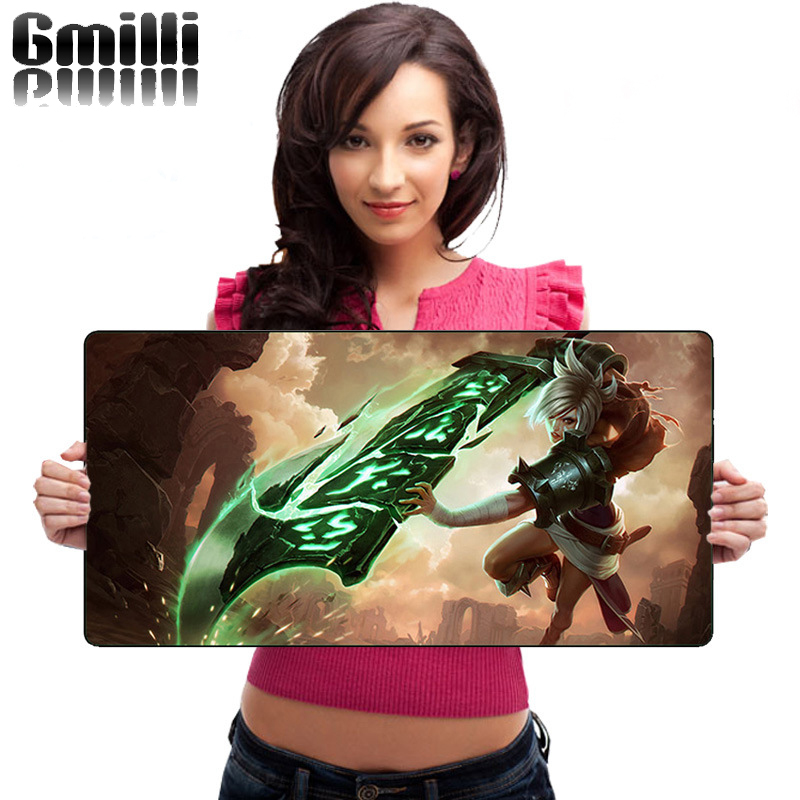 Gmilli New Rubber Large Size 600*300mm Mouse Pads Thickening Hemming Mousepad Laptop Table Keyboard Mats Dropshipping