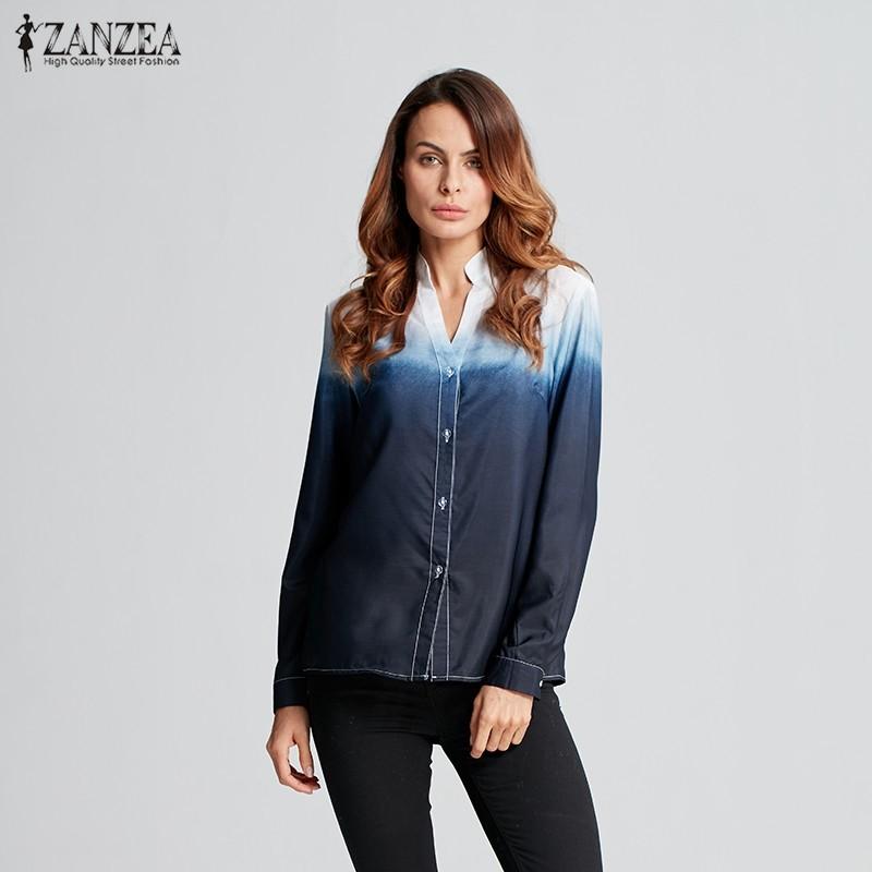 HTB1y7spOFXXXXbRXFXXq6xXFXXXm - Women Blusas Casual Leisure Long Sleeve Sexy V Neck