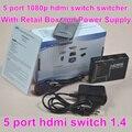 BrankBass 5 порт HDMI Переключатель HDMI Switcher 5X1 3D & полный HD1080p с пультом дистанционного управления и адаптер питания и розничной коробке