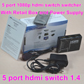 BrankBass 5 port HDMI Switch HDMI Switcher 5X1 3D&full HD1080p with remote control&power adapter and retail box