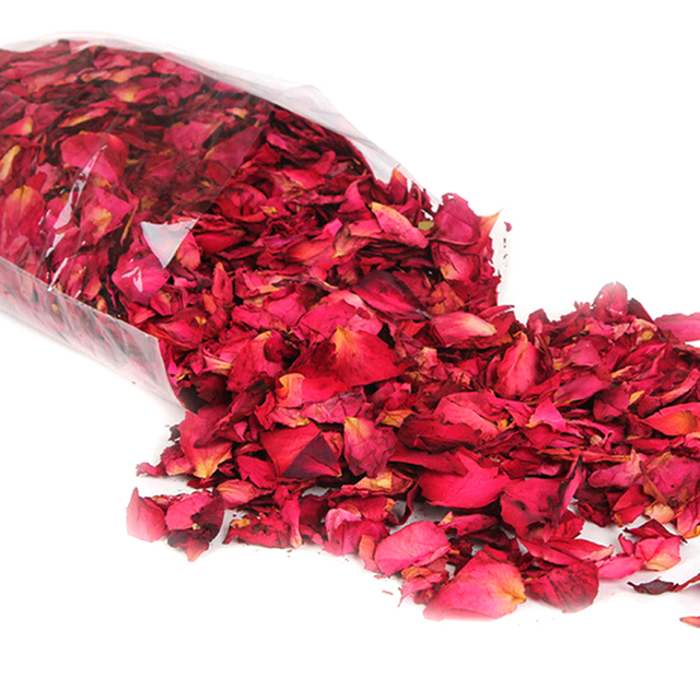 Romantic 30/50/100g Natural Dried Rose Petals Bath Dry Flower Petal Spa Whitening Shower Aromatherapy Bathing Supply