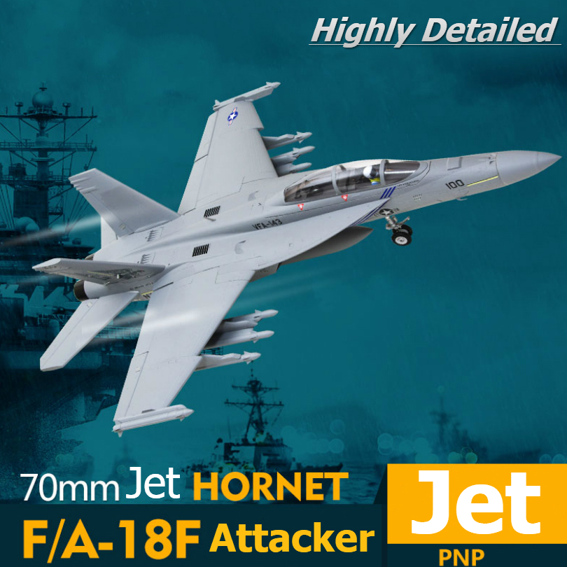 FMS RC Airplane F/A-18F F18 Super Hornet 70mm Ducted Fan EDF Jet Big Scale  Model Plane Aircraft PNP 6S 6CH with Retracts Flaps