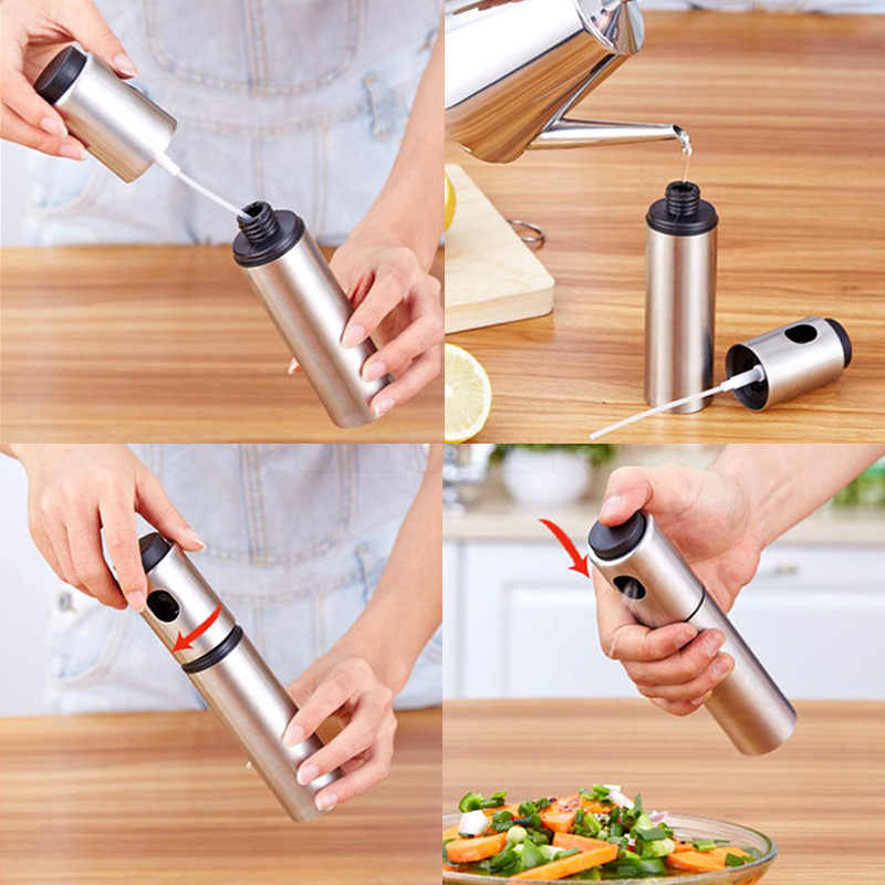 1 PCS Cozimento Cozinha Pulverizador De Azeite de Vidro Spray de Óleo Garrafa de Vinagre de Óleo Garrafa Vazia Dispenser Cozinhar CHURRASCO Salada AP11091505