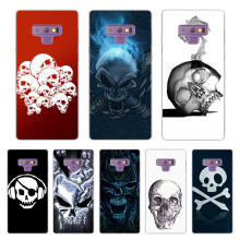 funny Skulls Transparent Case Cover for Samsung Galaxy Note 9 8 5 4 A6 A7 A8 A9 J3 J4 J6 J7 J8 2018 S10 lite plus cover(China)