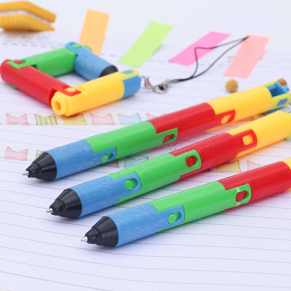 TOMTOSH Foldable Ballpoint Pen Stitch Pen Wholesale Bend Pen Creative Student Prize Item Pen 5