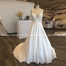 8032c469cb Francuski styl-line biała suknia ślubna Sheer aplikacja koronki Backless  kraju suknie ślubne Plus rozmiar tanie Vestido de noiva