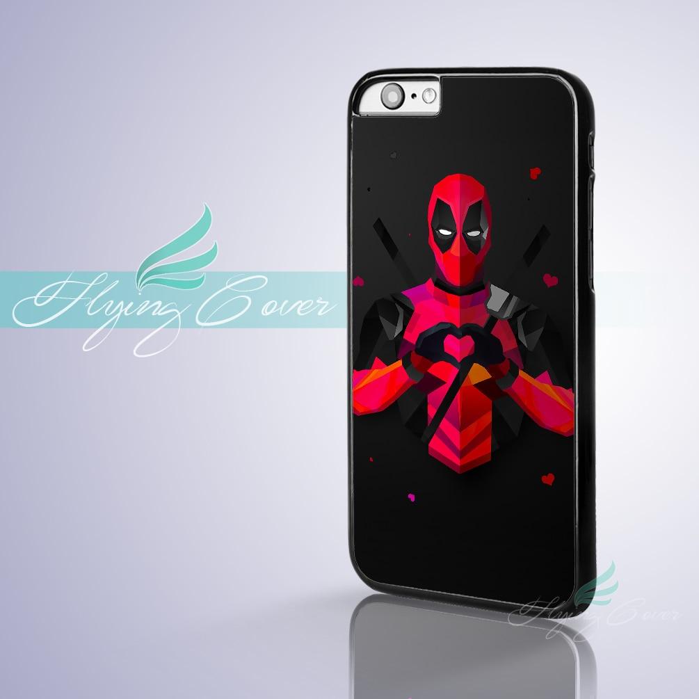 Coque Super-Héros Marvel Deadpool Téléphone Cas pour iPhone 7 6 S 6 5S SE 5C 5 4S 4 7 Plus le Cas pour iPod Touch 6 iPod Touch 5 Couverture.