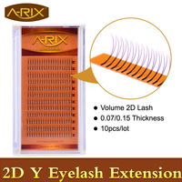 10packs Volume Y 2D Eyelash Extension 0.07 0.15 Super Soft Faux Mink Hair Professional Makeup Tools From Korea