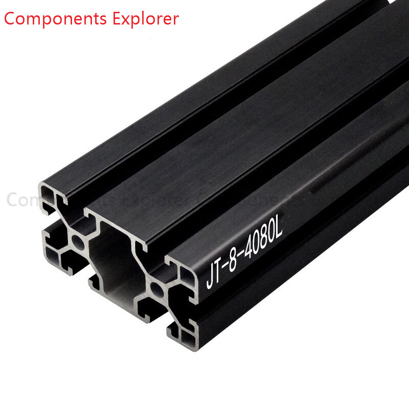 Arbitrary Cutting 1000mm 4080 Black Aluminum Extrusion Profile,Black Color.