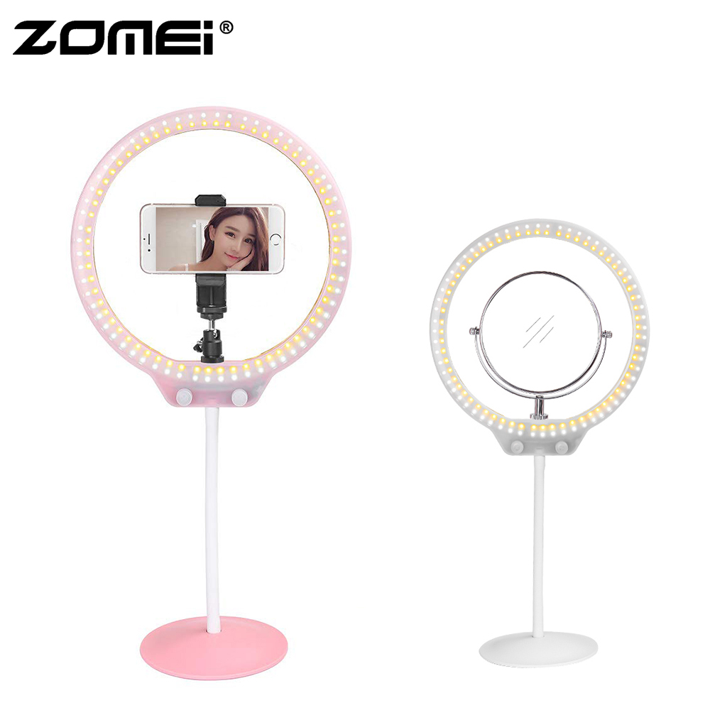 ZoMei 10 inch Ring Light 26cm LED Dimmable Camera Photography Lamp Portable Mini Desktop Video Lighting for Makeup Selfie Video-in Photographic Lighting from Consumer Electronics    1