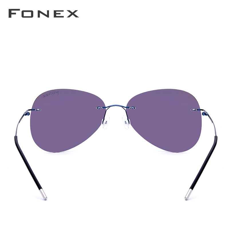Image 4 - Rimless Sunglasses Titanium Men Brand Designer Ultralight Male 2018 New Light Frameless Aviation Polarized Sun Glasses for Women-in Women's Sunglasses from Apparel Accessories