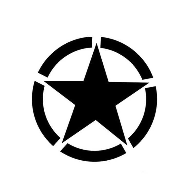 Оптовая 5шт,10шт,11*11см армия Стандартный внедорожник ПЕНТАКЛЬ Пентаграмма светоотражающие автомобиля наклейки черный Серебряный