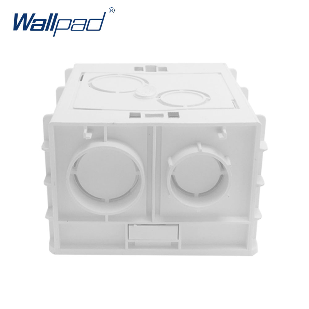 цена на Mounting Box for 86*86mm Wall Switch and Socket Wallpad Cassette Universal White Wall Back Junction Box
