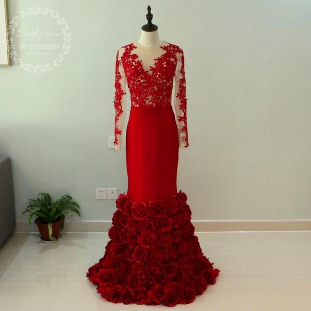 Black dress long sleeve lace 3d
