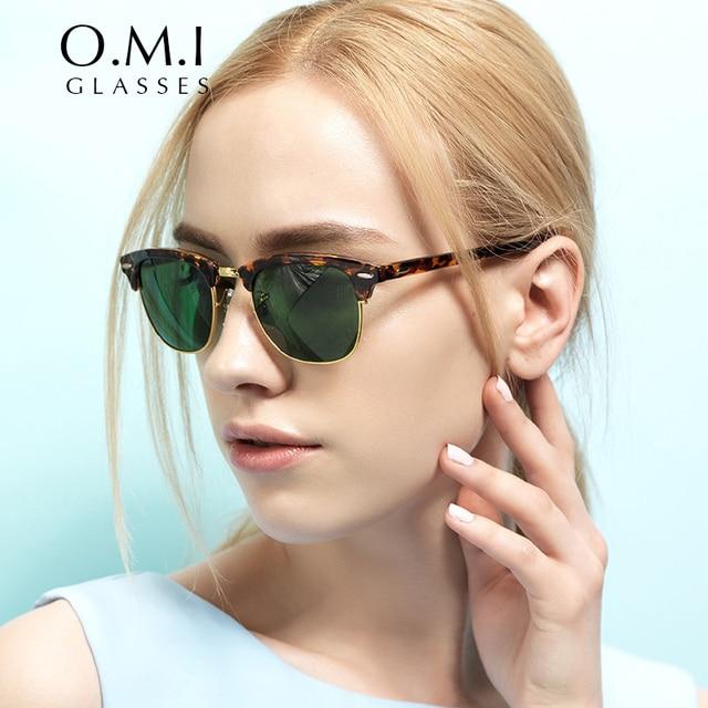 1c5d7fa70 WHO CUTIE Hot Rays Clubmaster Sunglasses Classic Mirror Half Metal Sun  Glasses Men Women Brand Designer 2017 lentes de sol 3016