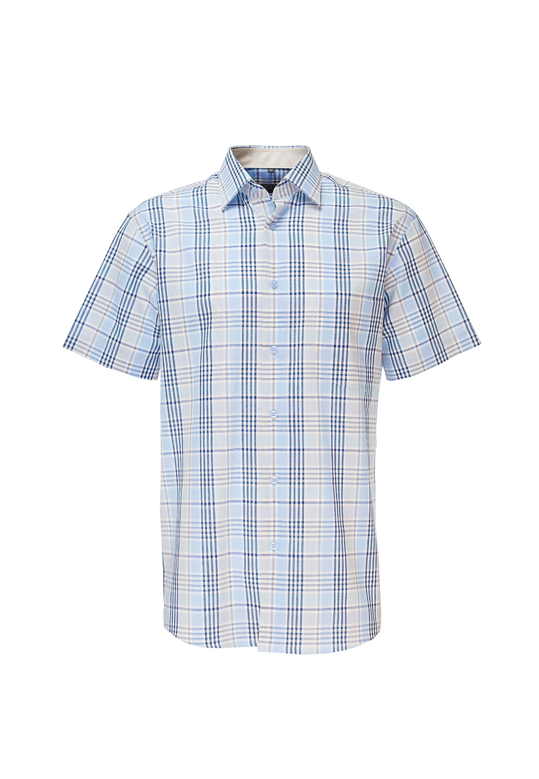 Shirt men's short sleeve GREG 255/301/723/Z/1 Blue