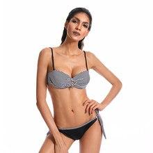 049548b20f374 Bandeau Bikini Set Push Up Swimsuit Women's Swimming Suit Hot Swimwear Sexy Bathing  Suit Hipster Juniors