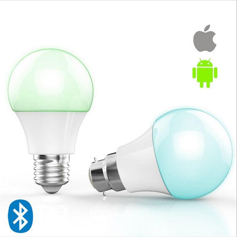 RGB Led lampe Lampe 4,5 Watt E27 Bluetooth Intelligente Beleuchtung ...