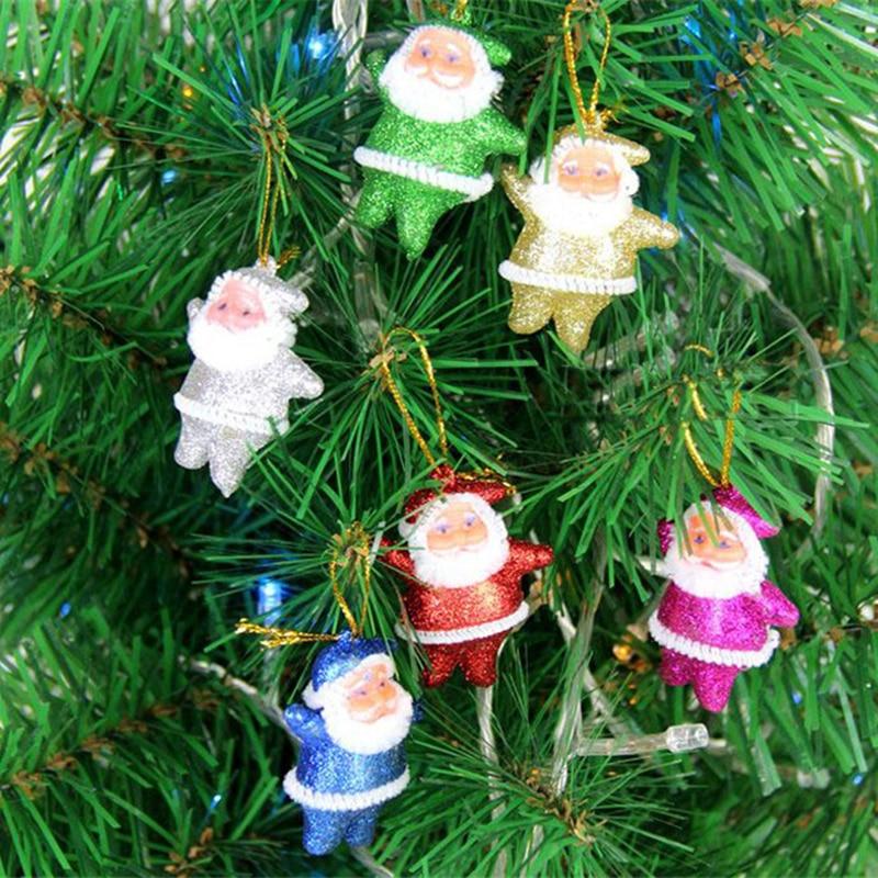 New 6pcs Cheap Christmas Tree Ornaments Xmas Santa Claus
