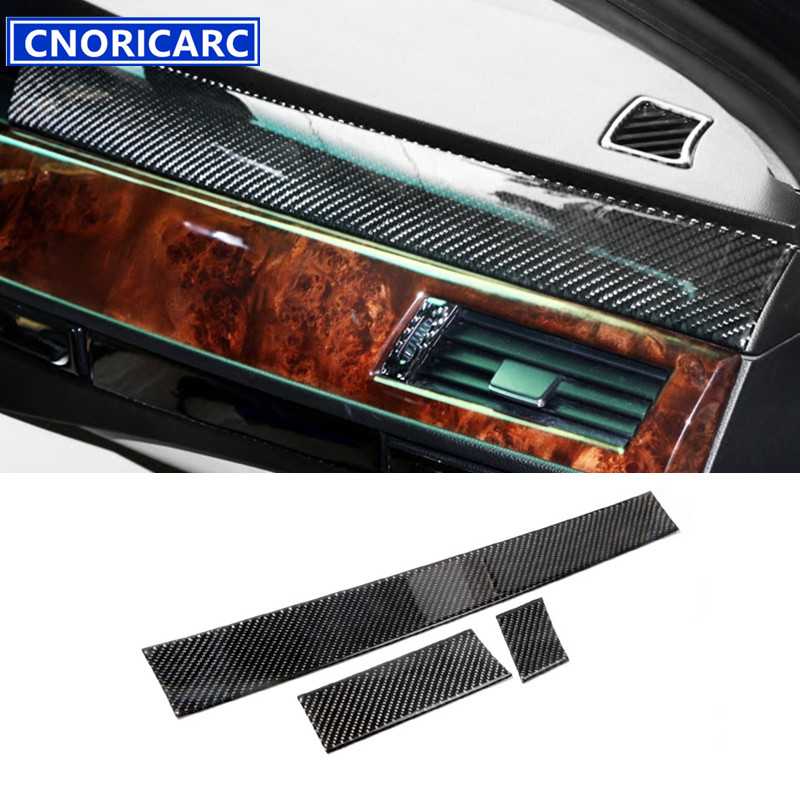 CNORICARC Central Console Dashboard Decorative Panel Cover Trim Strip Interior Carbon Fiber Sticker For BMW 5