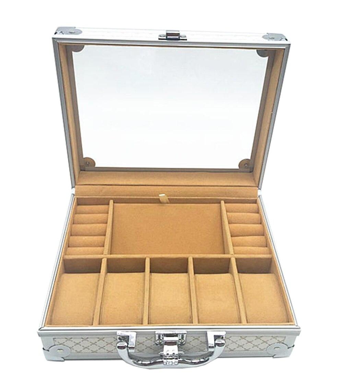 Luxus Aluminium Uhr & Schmuck Koffer Lagerung mit Griff Uhren Box - Uhrenzubehör - Foto 2