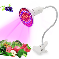 20W E27 LED Grow Light With Lamp Holder Clip For Indoor Plants Flower Growing Lights Red