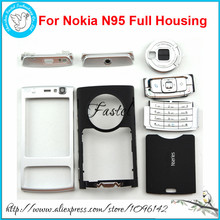 For Nokia N95 Plum/Black/Red, New High Quality Full Complete Mobile Phone housing cover case+Keypad+Tools, free shipping