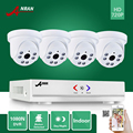 Anran 1080n 4ch ahd dvr hdmi 6 ir día noche 720 P 1800TVL Inicio de Vídeo En Color de Seguridad CCTV Cámara Domo para Interiores sistema