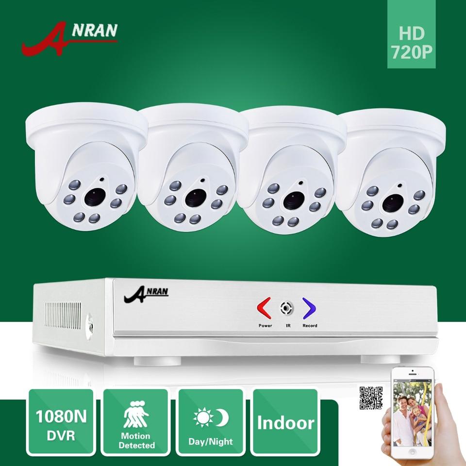 bilder für Anran 4ch 1080n ahd dvr hdmi 6 ir tag nacht 720 P 1800TVL Indoor Dome Kamera CCTV Home Farbe Video Security System