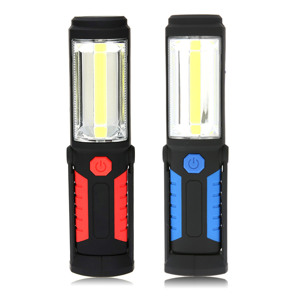 COB LED Flashlight Magnetic USB Rechargeable Work Light 360 degree Stand Torch Lamp For Vehicle Examine Repair Car Accessories magnetic rechargeable muted pure silica