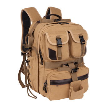 Hot TTKK Canvas Digital Large Dslr Camera Bag Waterproof Professional Camera Travel Photo Double-Shoulder Backpack Bag