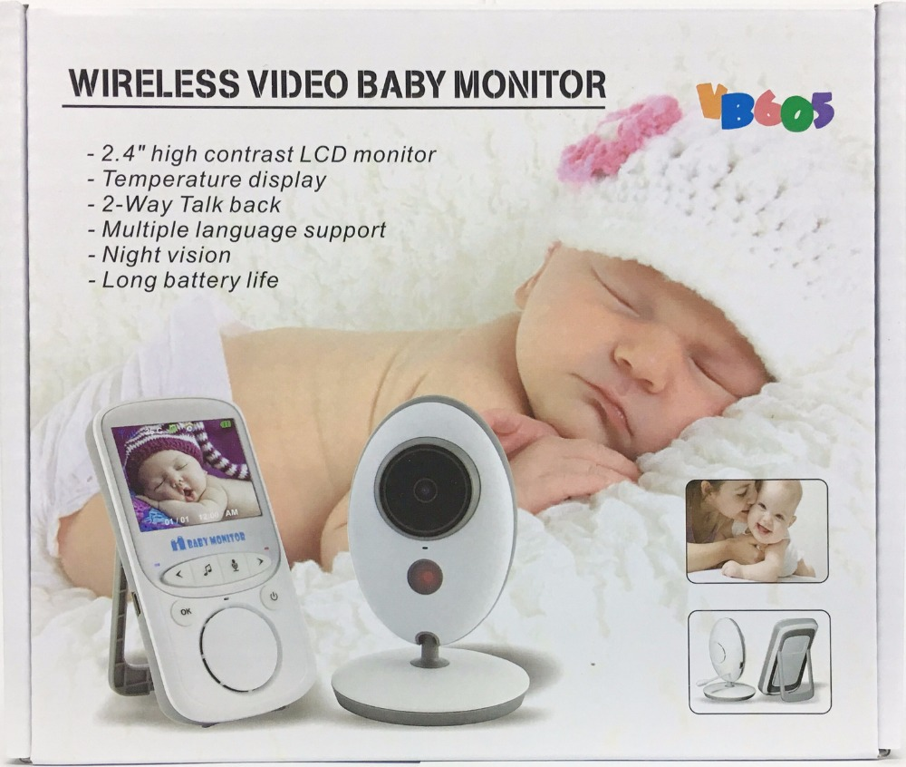 Wireless LCD Audio Video Baby Monitor VB605 Radio Nanny Music Intercom IR 24h Portable Baby Camera Baby Walkie Talkie