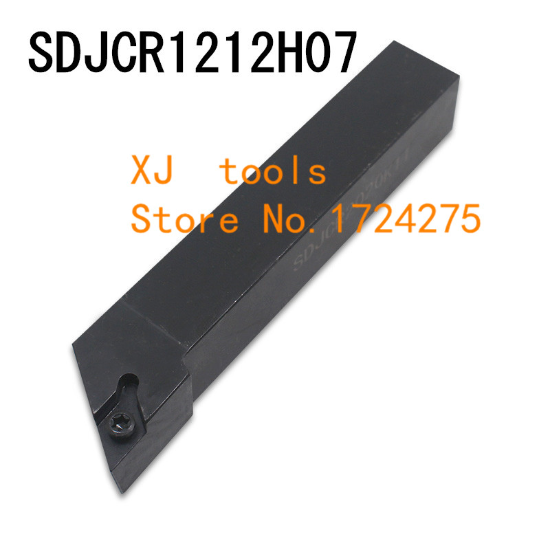SDJCR1212H07 /SDJCL1212H07 Metal Lathe Cutting Tools Lathe Machine CNC Turning Tools External Turning Tool Holder S-Type SDJCR/L