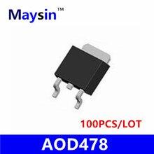 100 ШТ. AOD478 D478 T0-252 SMD