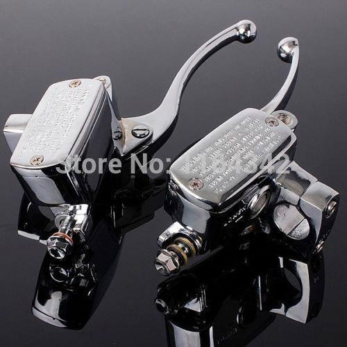 2x Chrome Universal MOTORCYCLE BRAKE CLUTCH MASTER CYLINDERS 7/8 (22mm)For Suzuki Honda Kawasaki 2x motorcycle brake banjo bolt m10x1 00 for brake master cylinders calipers