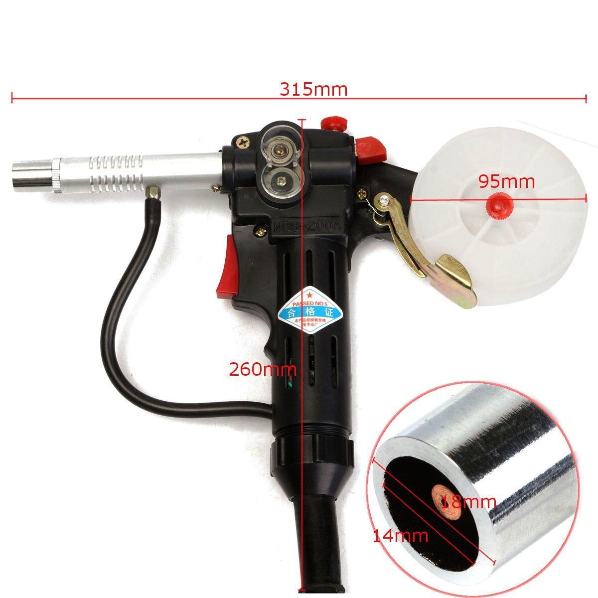 Aluminium Schweißer Pistolen Weld Teile Spule Pistolen Schutzgas Schweißen mit 7Pin Stecker Push-Pull Taschenlampe Schweißen Ausrüstung