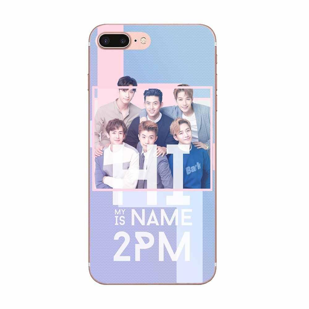2 pm Kpop для Apple IPhone X XS Max XR 4 4s 5 5C 5S SE 6 6 S 7 8 Plus мягкий TPU модный мобильный телефон