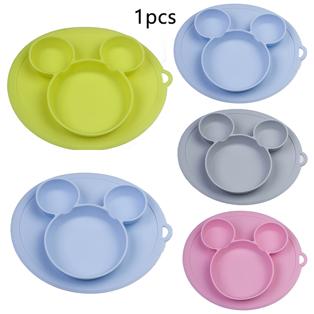 Baby Bowl Plates Baby Cute Cartoon Silicone Feeding Dining Plate Dishes Kids Tableware Kids Silica Gel Dishes #17