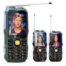 DBEIF D2016 Dual flashlight FM 13800mAh mp3 mp4 power bank Antenn Analog TV Rugged mobile phone cell P242