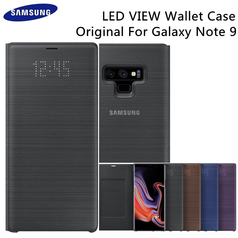Officiel D'origine Samsung SM-N9600 6.3in LED View Flip Housse pour Samsung Galaxy Note 9 Carte Fente Étui Portefeuille noir