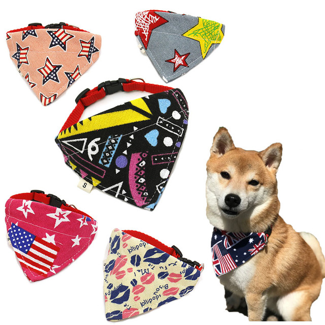 Bandana per cani Gatti Cani Sciarpa Bavaglini Bello Pet Dog Collari Sciarpa Pupp