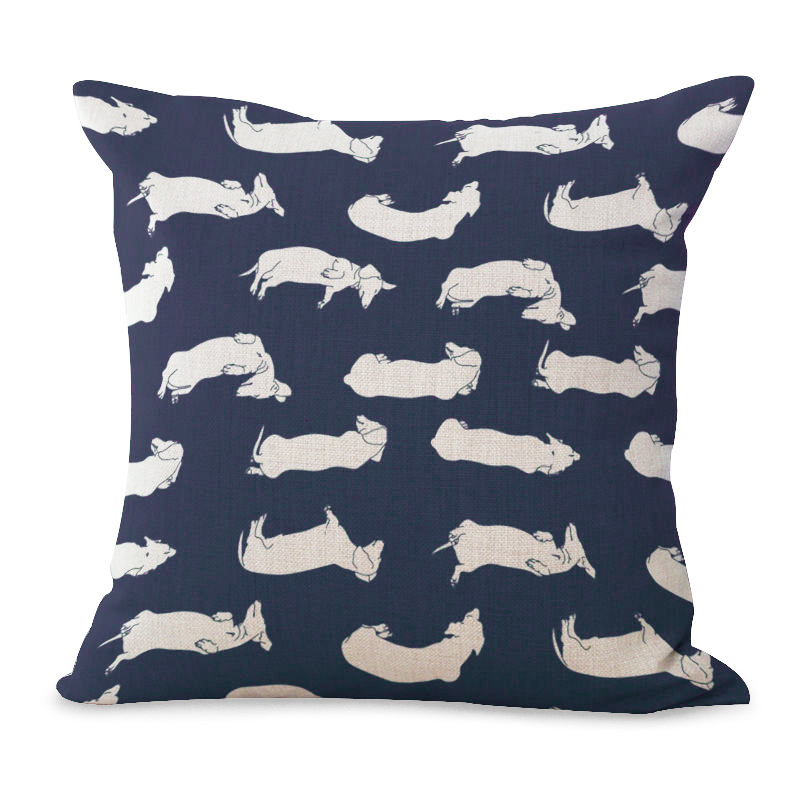 Square Dachshund Pillow Covers Animal Pet Pillows Case Dachshund Cushion Cover for Home Sofa Decorations Pillowcase
