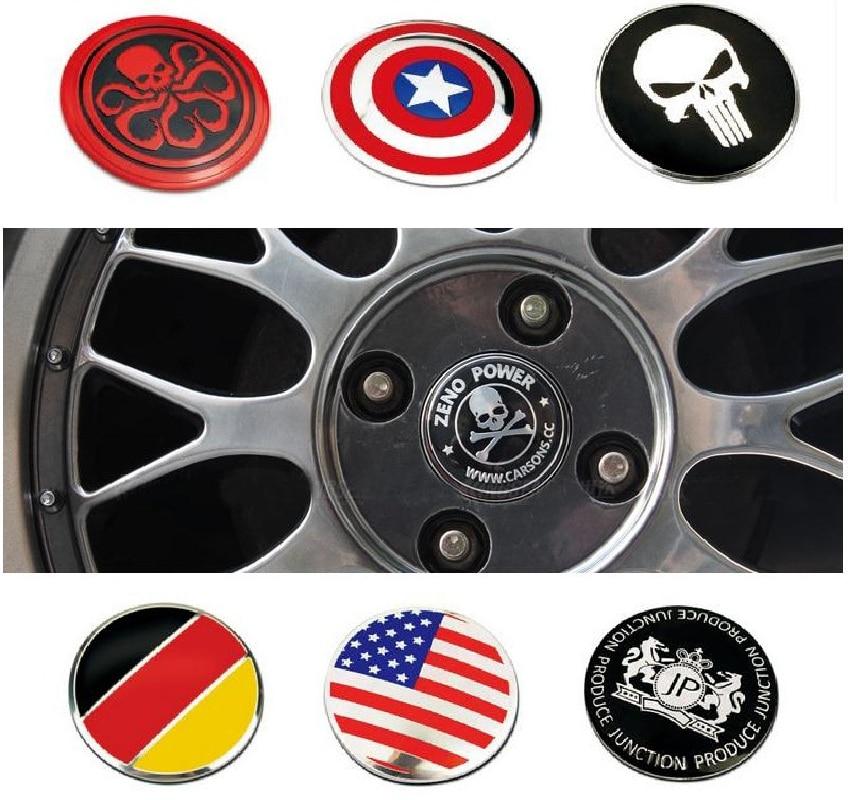 4pc 56mm Car Styling Tire Wheel Center Car Sticker Hub Cap