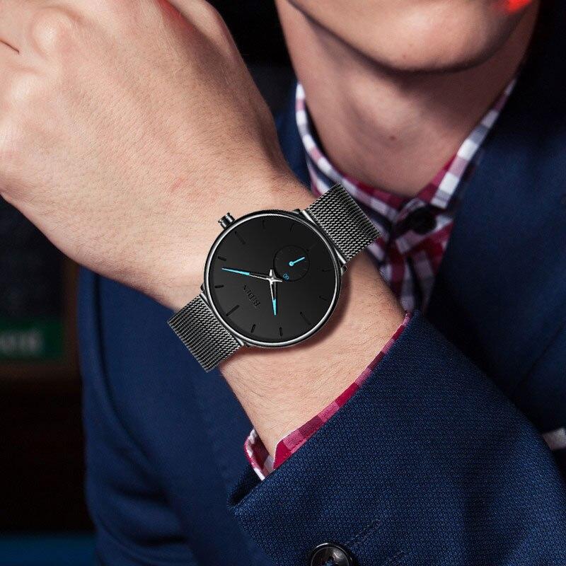 CURREN-Luxury-Brand-Quartz-Watch-Men-s-Gold-Casual-Business-Stainless-Steel-Mesh-band-Quartz-Watch